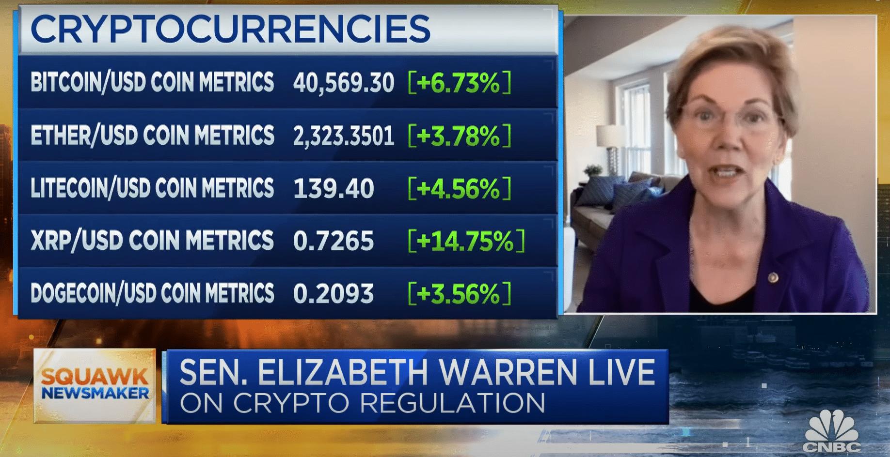 Senadora dos EUA compara Bitcoin a óleo de cobra