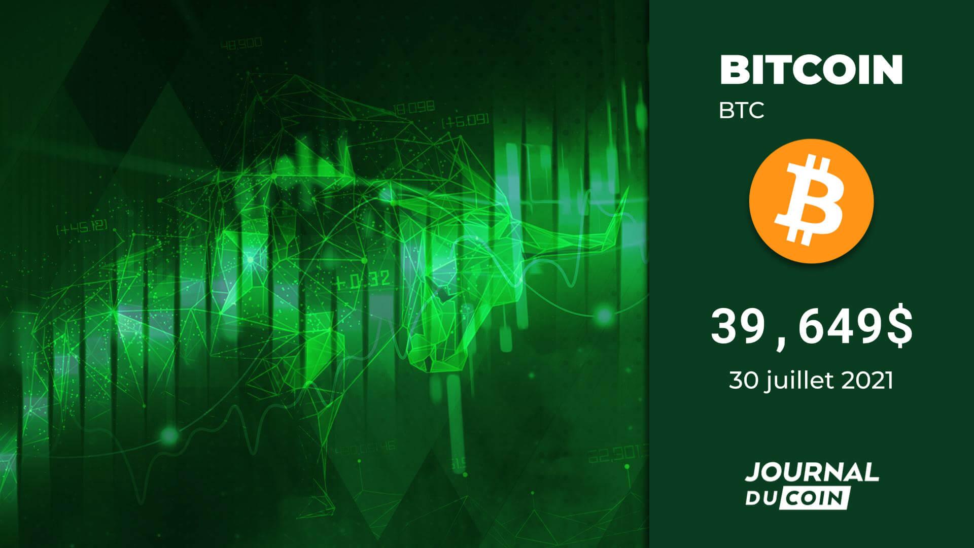 Cours du Bitcoin le 30 juillet – La confiance des baleines