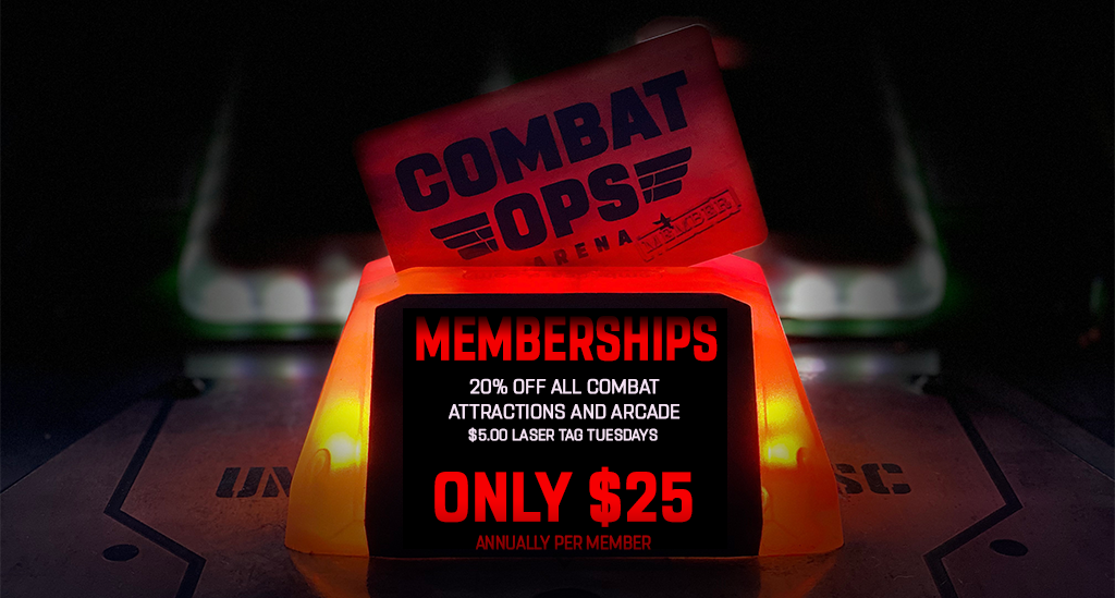 Combat Ops Memberships! Get off the couch, get in the game!