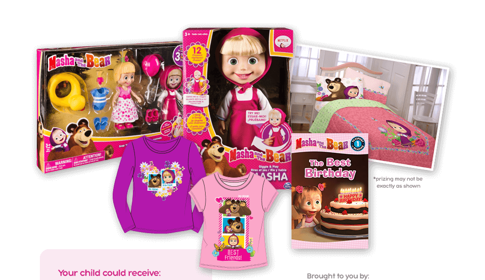Masha and The Bear Back to School Contest