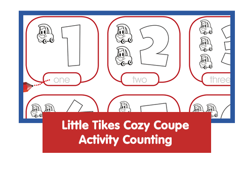 Little Tikes Cozy Coupe Activity Counting