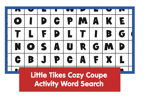 Little Tikes Cozy Coupe Activity Word Search