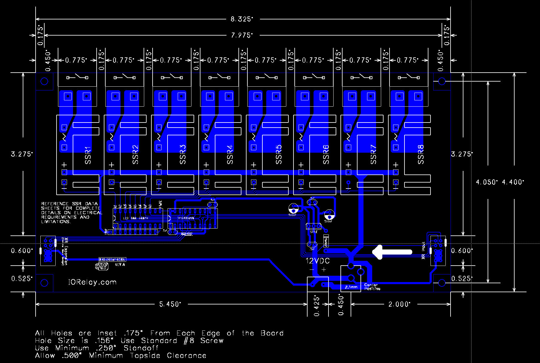 Solid State Relay Mechanical Drawing