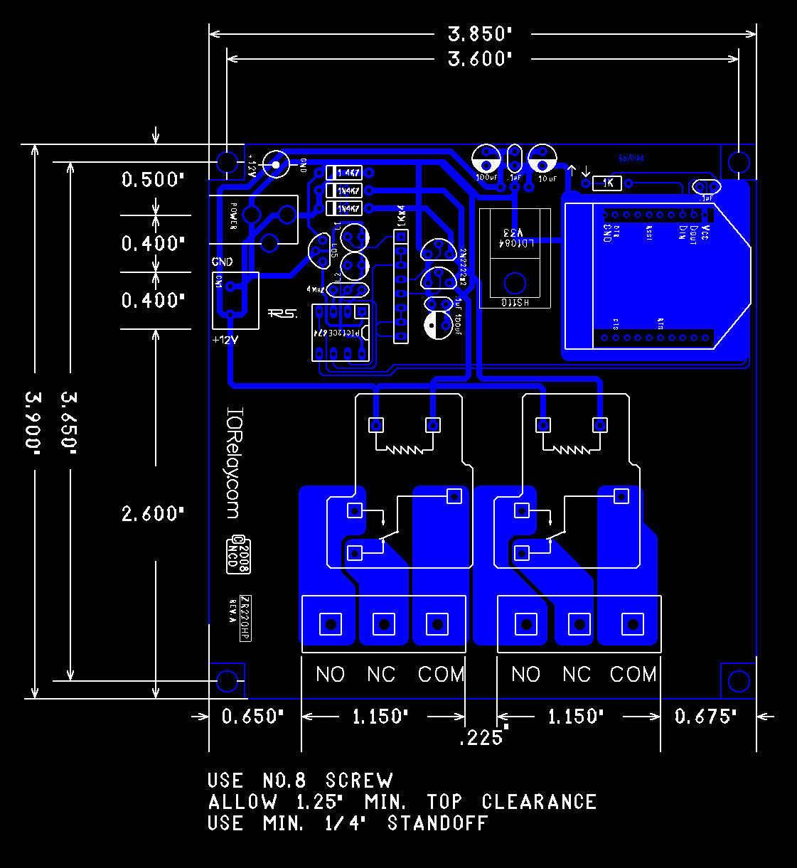 Low Cost 2 Channel 20a Spdt Zb Zigbee Relay Controller National Switch Mechanical Drawing