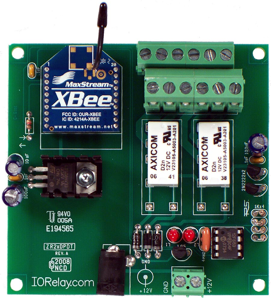 2 Channel 1 Amp Dpdt 802154 Wireless Relay Controller With Electrical Ieee