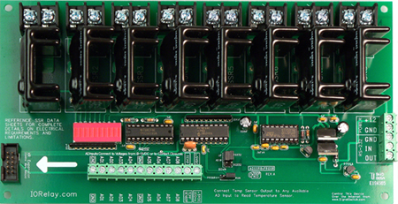 8-Channel Solid State Relay Controller