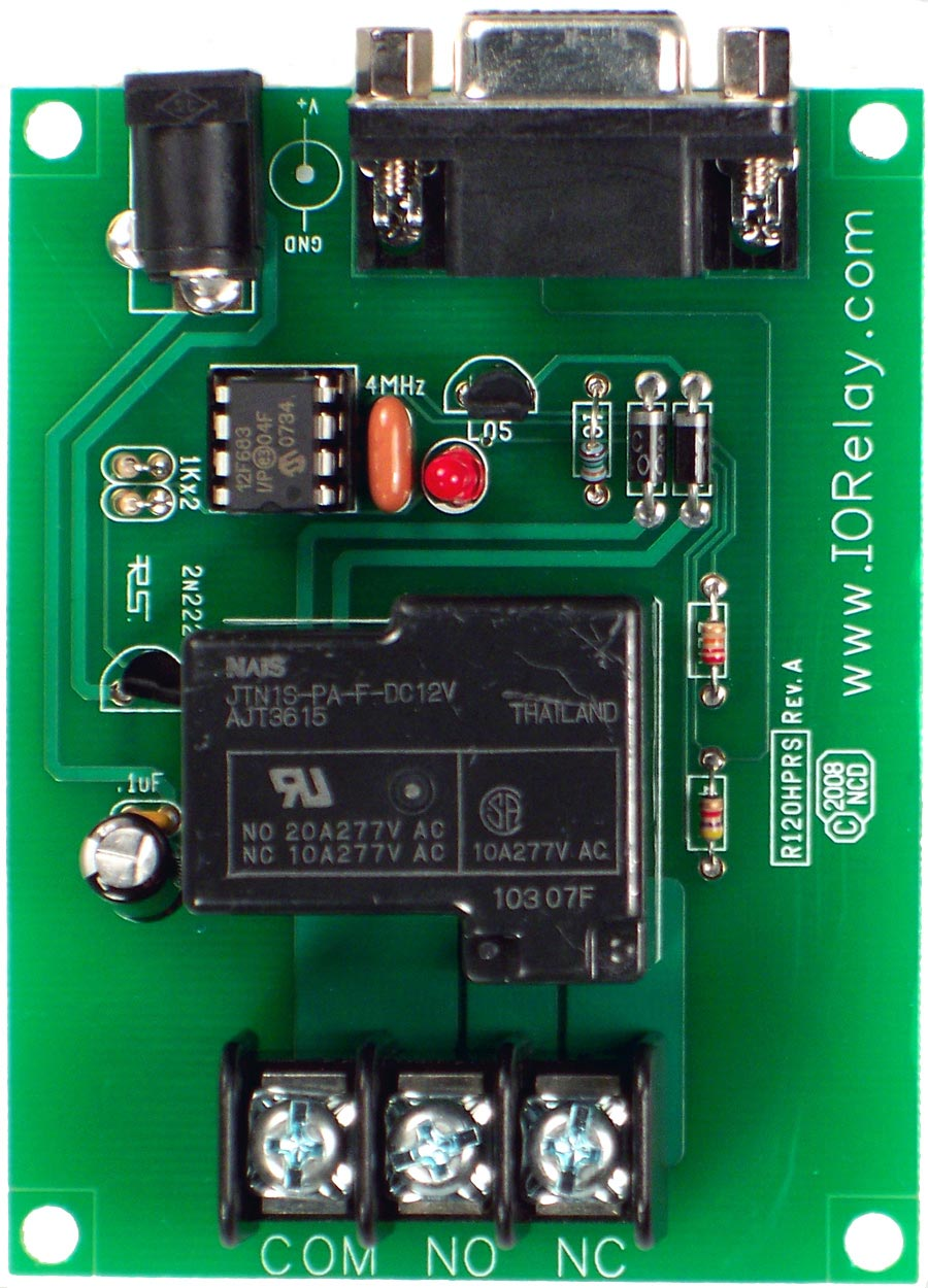 Low Cost 1 Channel 20a Spdt Relay Controller With Rs 232 Interface Controlling Switch Driver Rs232