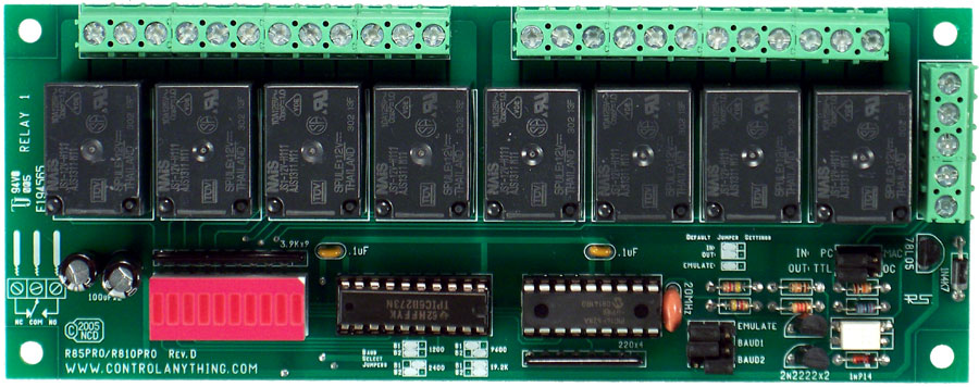 rs 232 8 channel relay controller board with 5 amp relays nationalrs 232 8 channel relay controller board with 5 amp relays