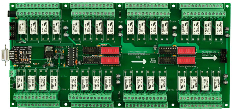 Serial Relay Controller Board 32 Channel 1 Amp Dpdt Uxp