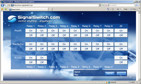 SignalSwitch.com Login Page