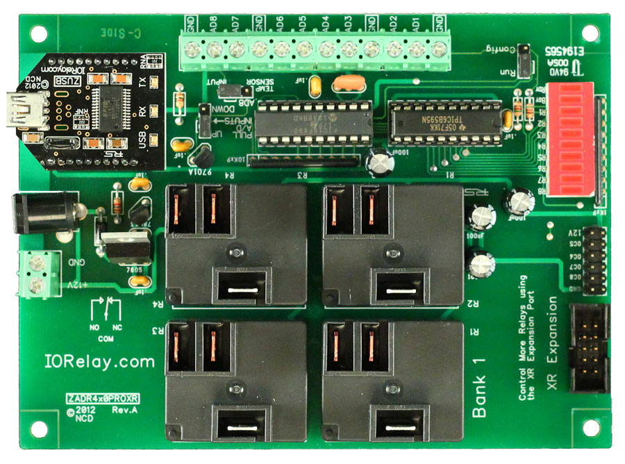USB Relay 4-Channel 20 Amp SPDT + 8-Channel 8/10-Bit A/D | National
