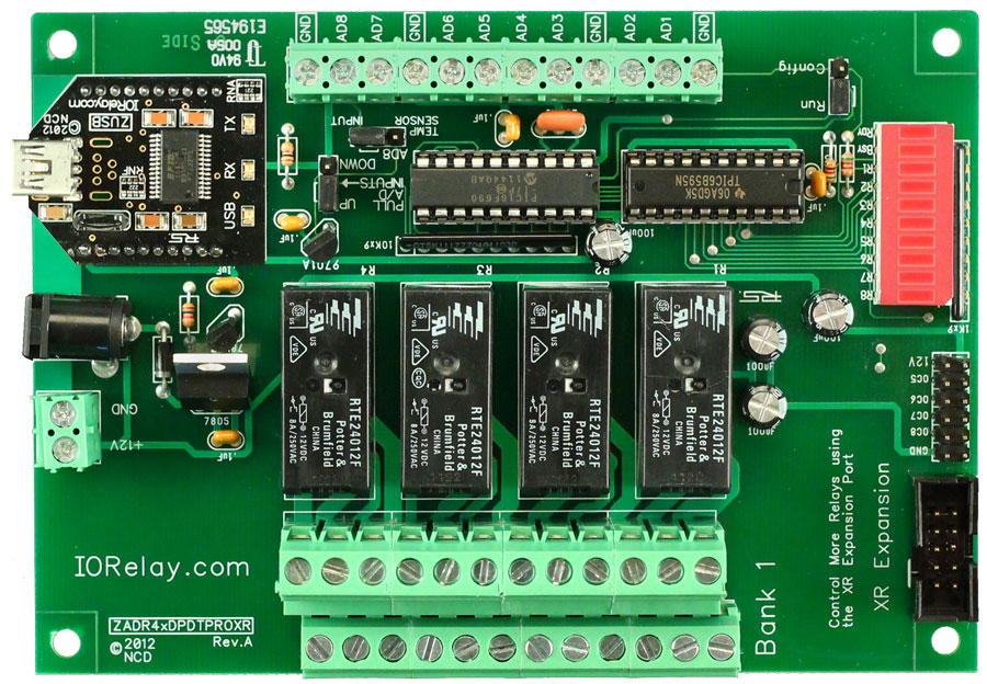 USB Relay 4-Channel 5 Amp DPDT + 8-Channel 8/10-Bit A/D | National