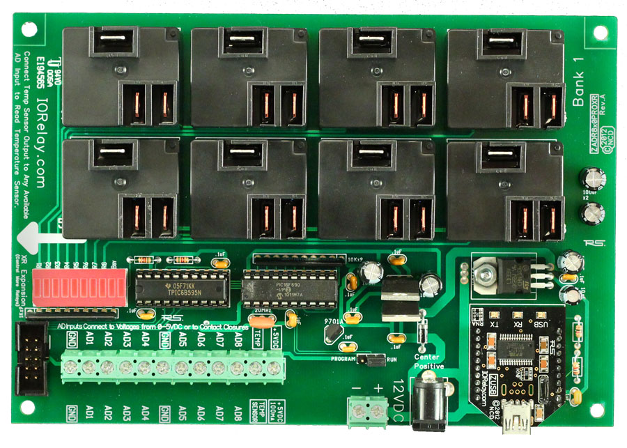 8-channel Relay Controller Board