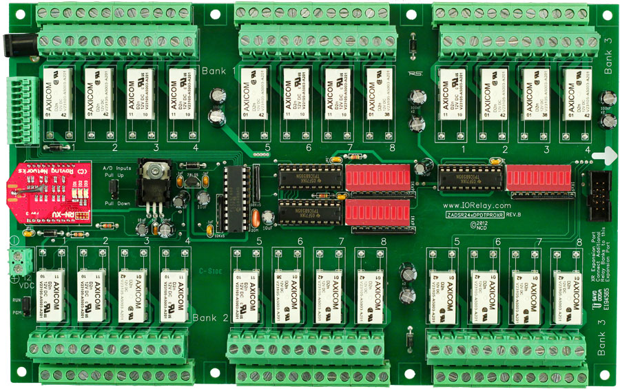 WiFi Relay Board 24-Channel 1 Amp DPDT + 8-Channel 8/10-Bit