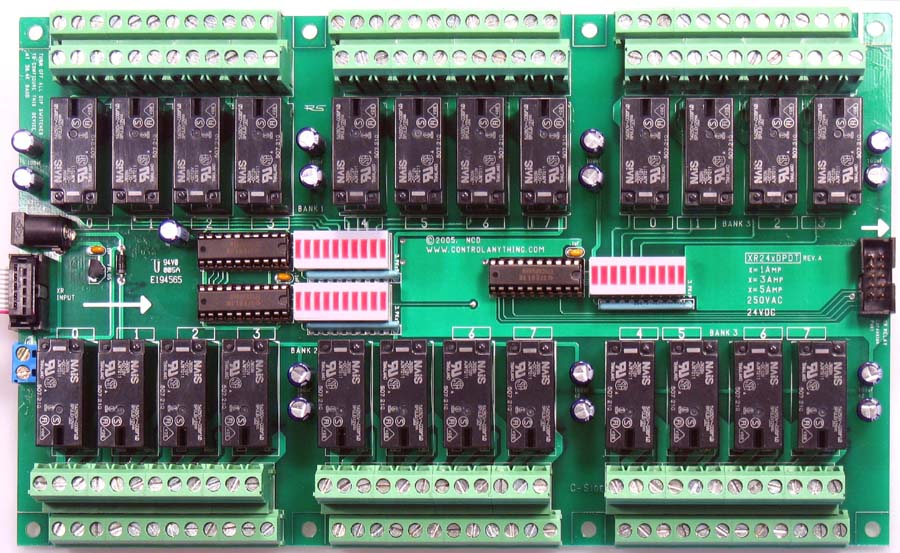 24Channel 3A DPDT Expansion Relay Controller National Control
