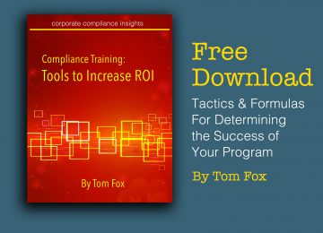 Compliance Training ROI by Tom Fox