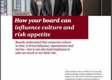 How the Board Can Influence Culture and Risk Appetite