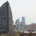 view of Trump hotel in Azerbaijan