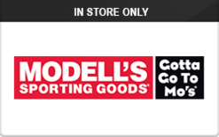 sell modell 39 s sporting goods in store only gift cards raise. Black Bedroom Furniture Sets. Home Design Ideas