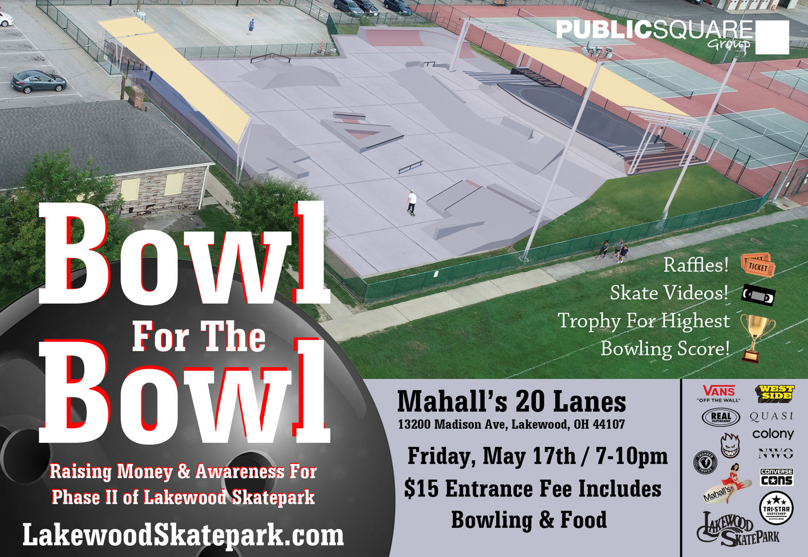 Bowl For The Bowl 2019 for Lakewood Skatepark Phase II