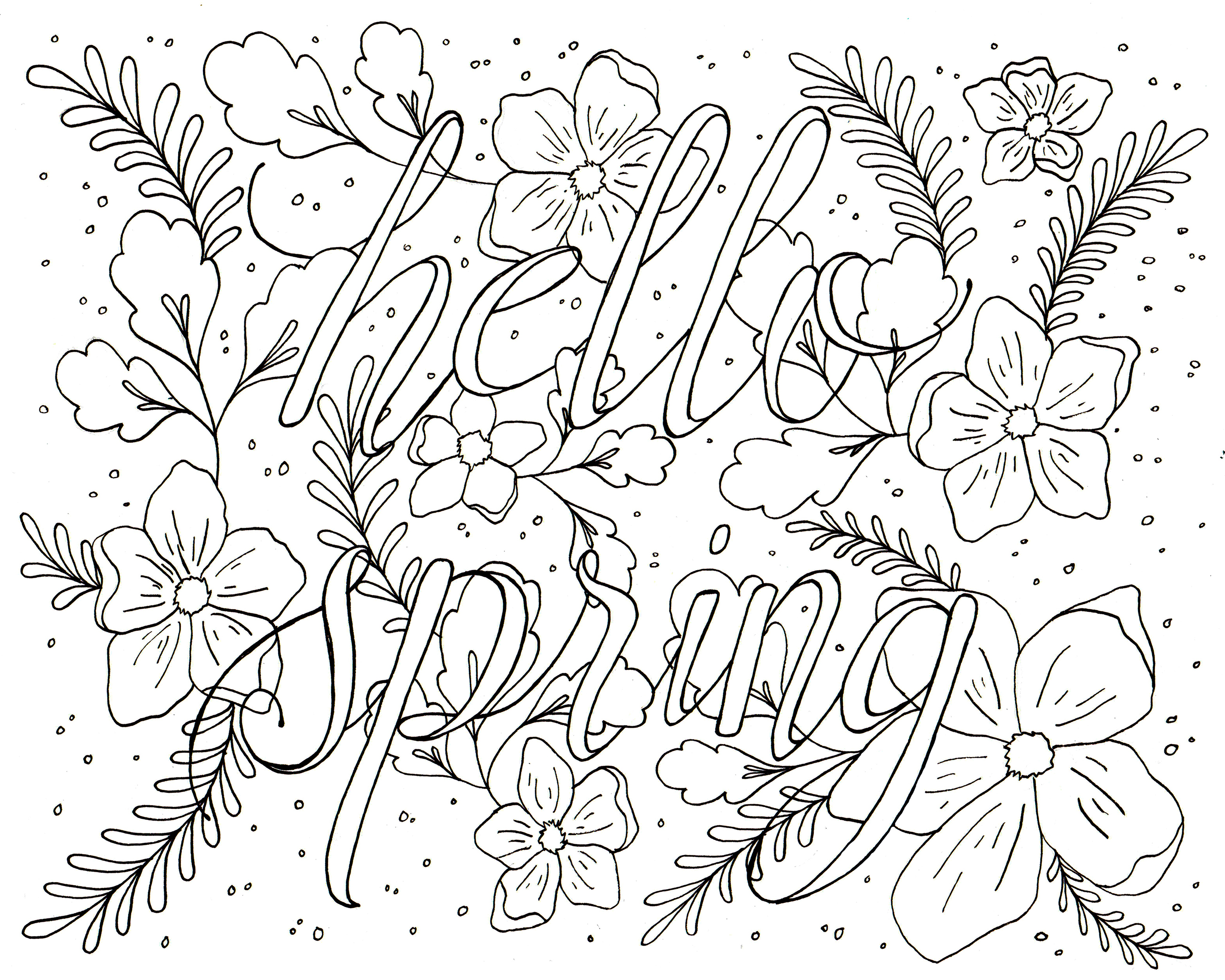 ... Print It Out On Letter Sized Cardstock. The Design Itself Is About 8x10  Inches. Color It In With Markers Or Colored Pencils And Hang It On The Wall  To ...