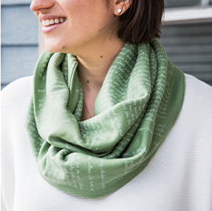Book themed infinity scarf