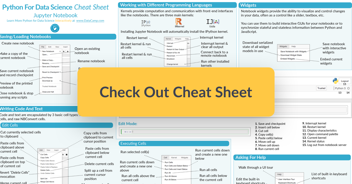 Jupyter Notebook cheat sheet