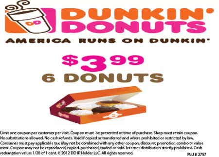 photograph regarding Dunkin Donuts Coupons Printable named Dunkin donuts coupon lake compounce : Coupon code victorian
