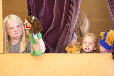 Children can perform at the Children's Department's puppet theater