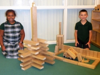 The building blocks are a popular attraction of the Children's Department