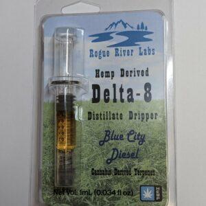 Rogue River Labs Delta 8 THC Distillate Dripper Blue City Diesel Cannabis Derived Terpenes