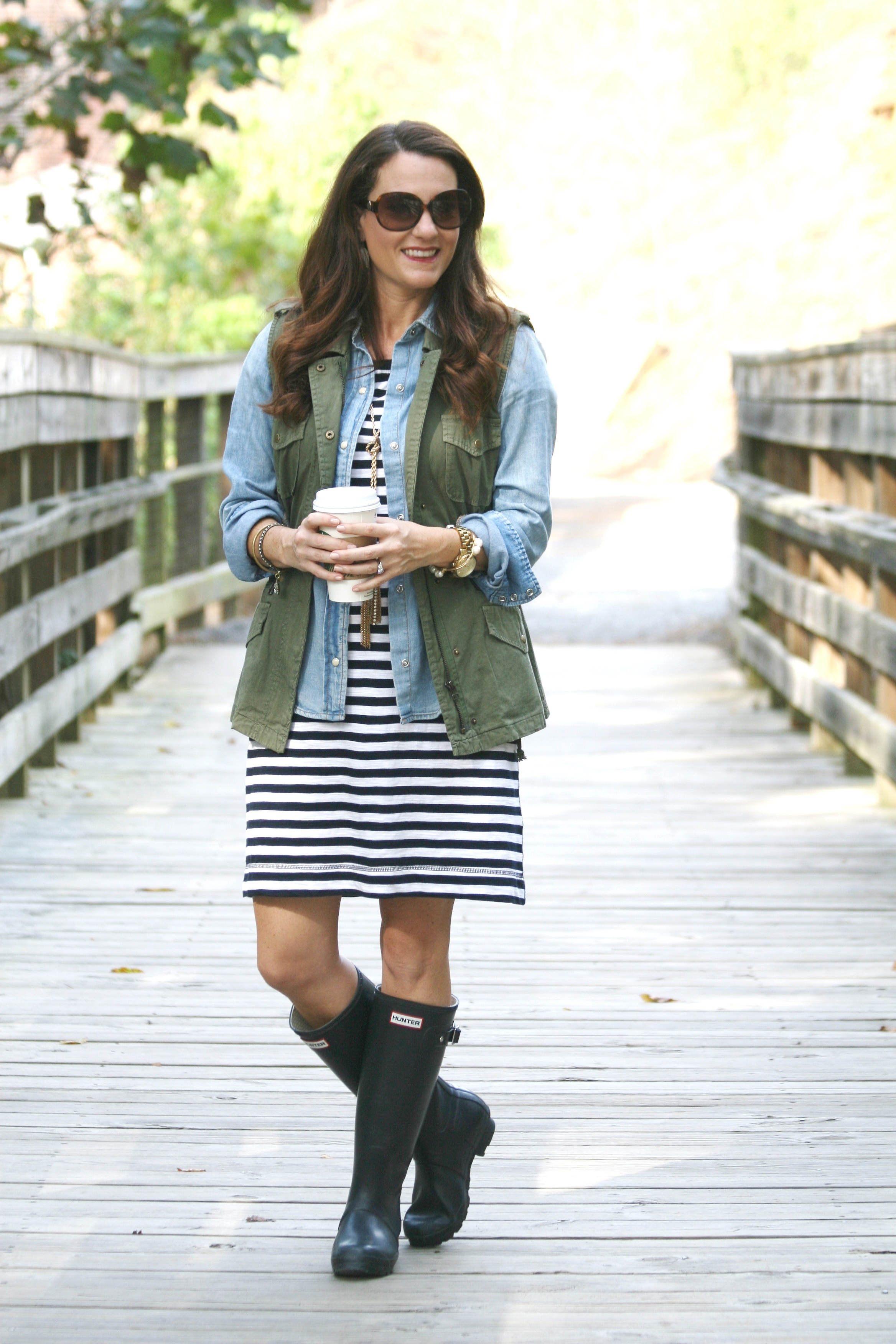 Hunter boot outfit