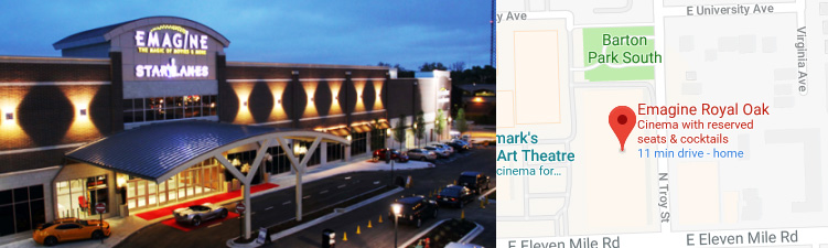 Royal Oak Michigan Zip Code Map.Royal Oak Theatre Emagine Entertainment