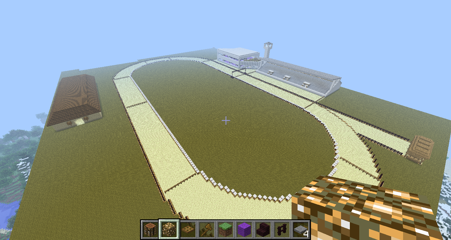 how to make a race track in minecraft