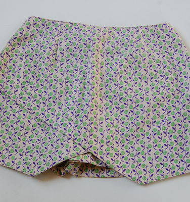 short-saia estampado -