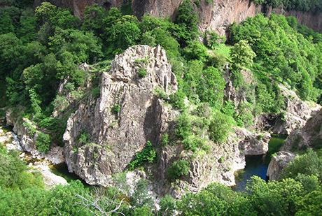 Ancien bassin volcanique