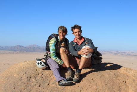 Vero et Robert au sommet du Poulain / Tihoukine