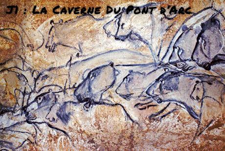 La Caverne du Pont d'Arc, le panneau des lions