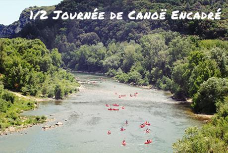 Canoë encadré au coeur des Gorges de l'Ardèche