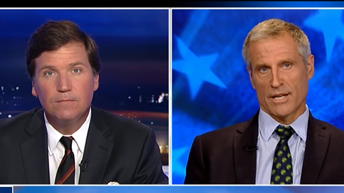 Tucker Carlson and Gene Baur