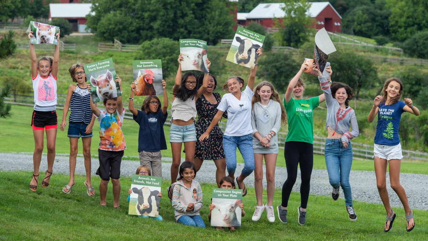 Youth at Farm Sanctuary event