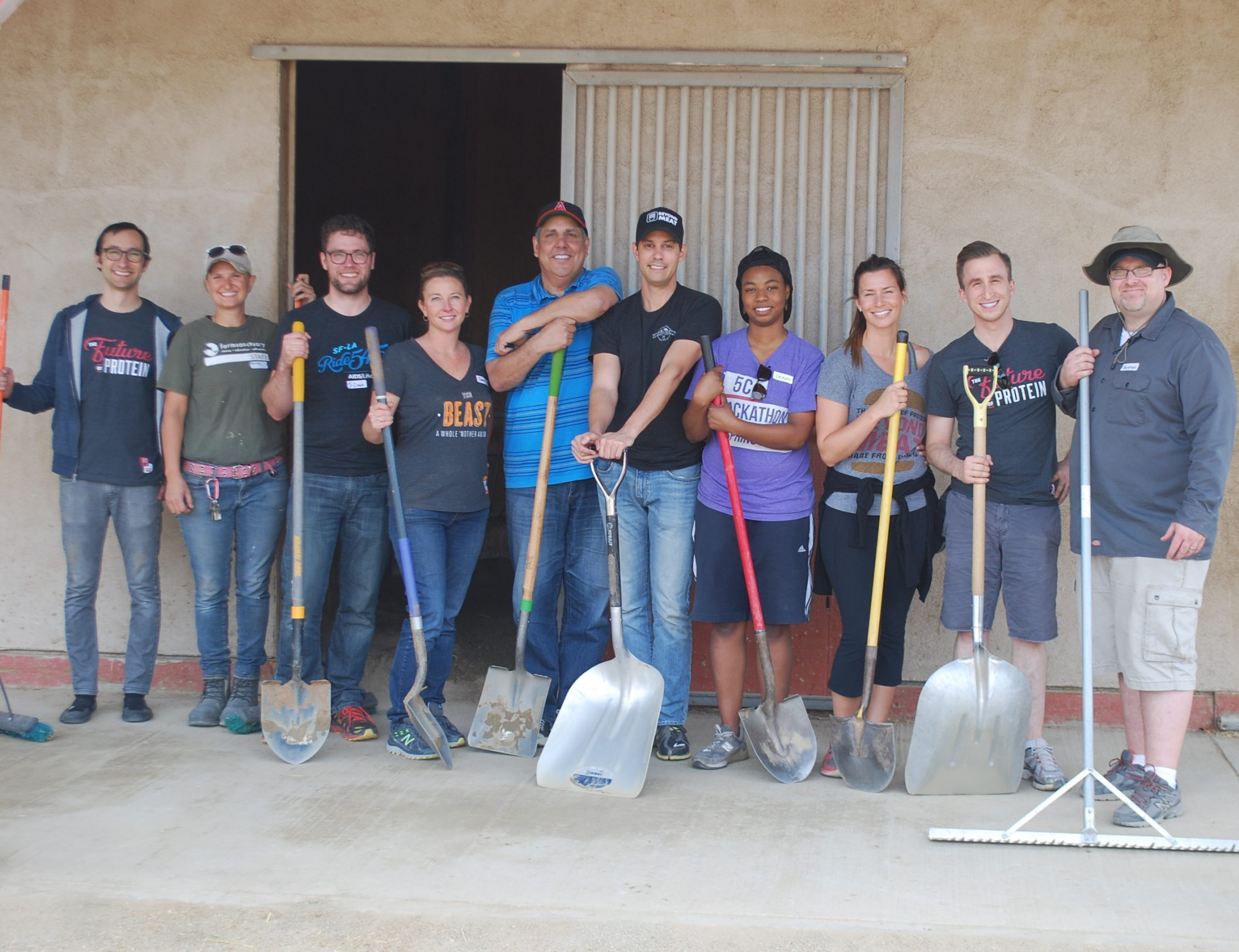 Beyond Meat volunteer work party at Farm Sanctuary