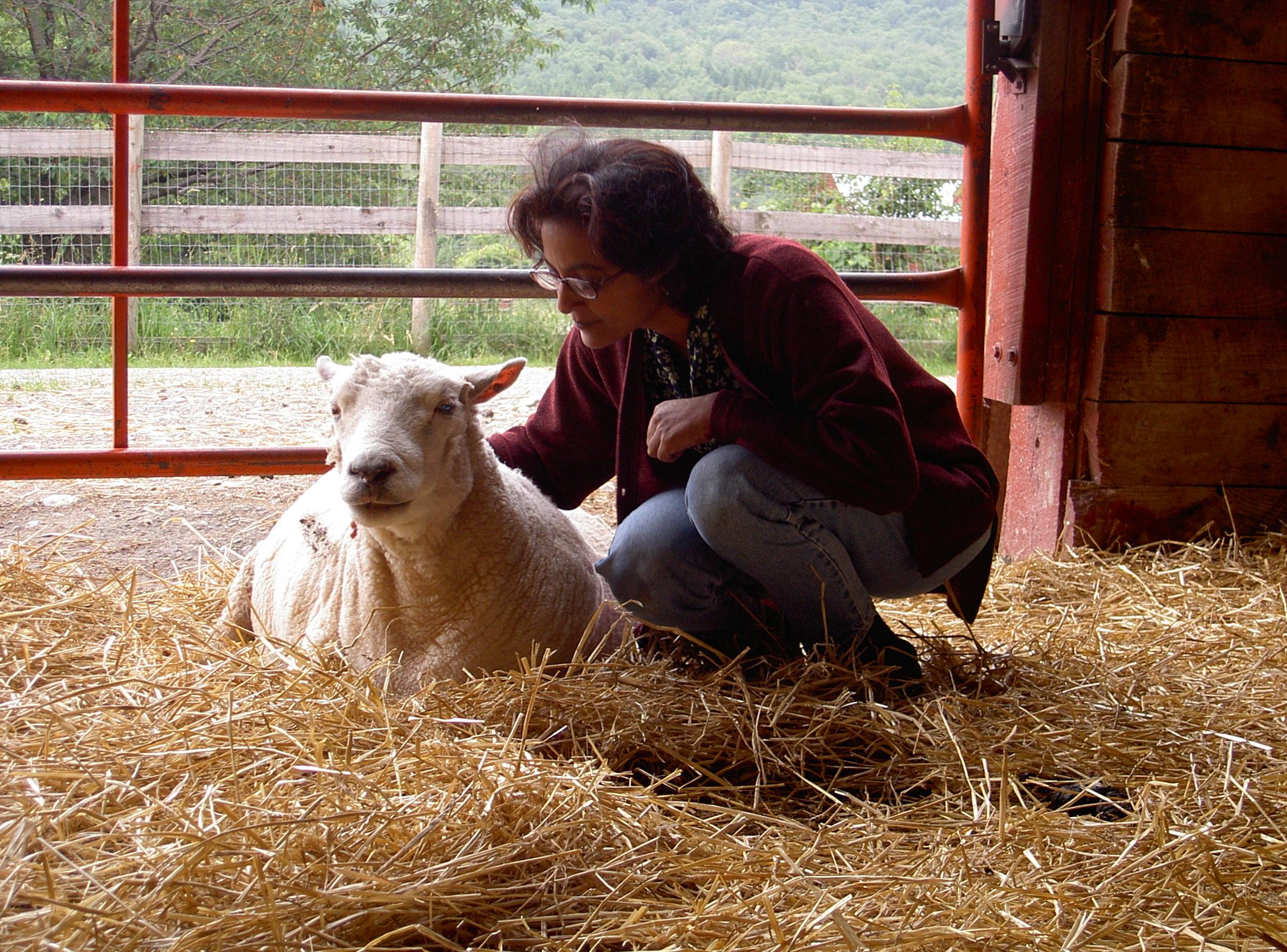 Nandita Shah at Farm Sanctuary