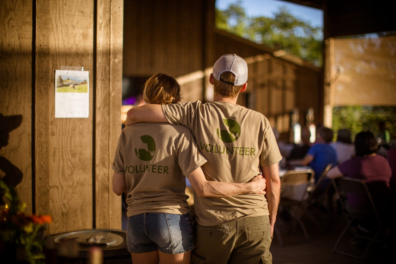 Volunteers at a Farm Sanctuary event
