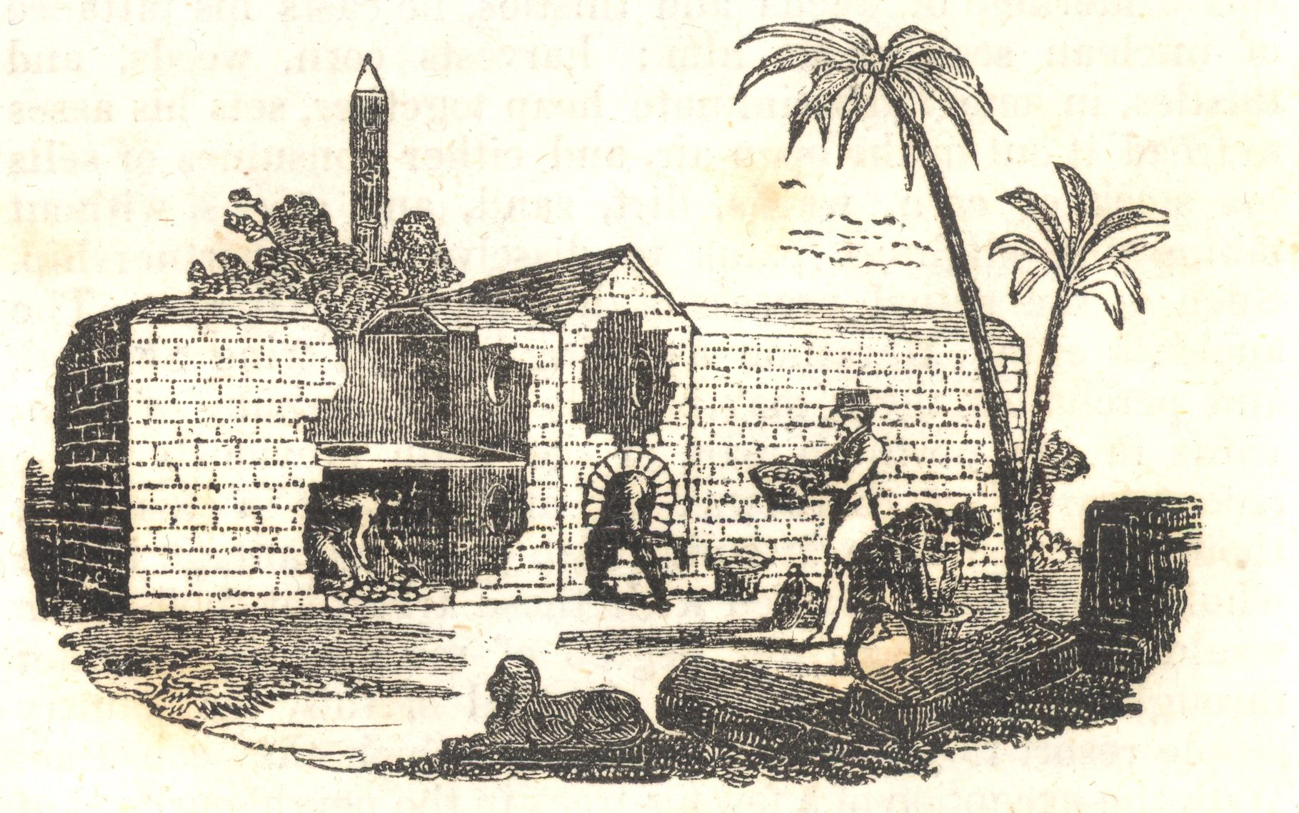 An illustration depicting an Egyptian egg oven