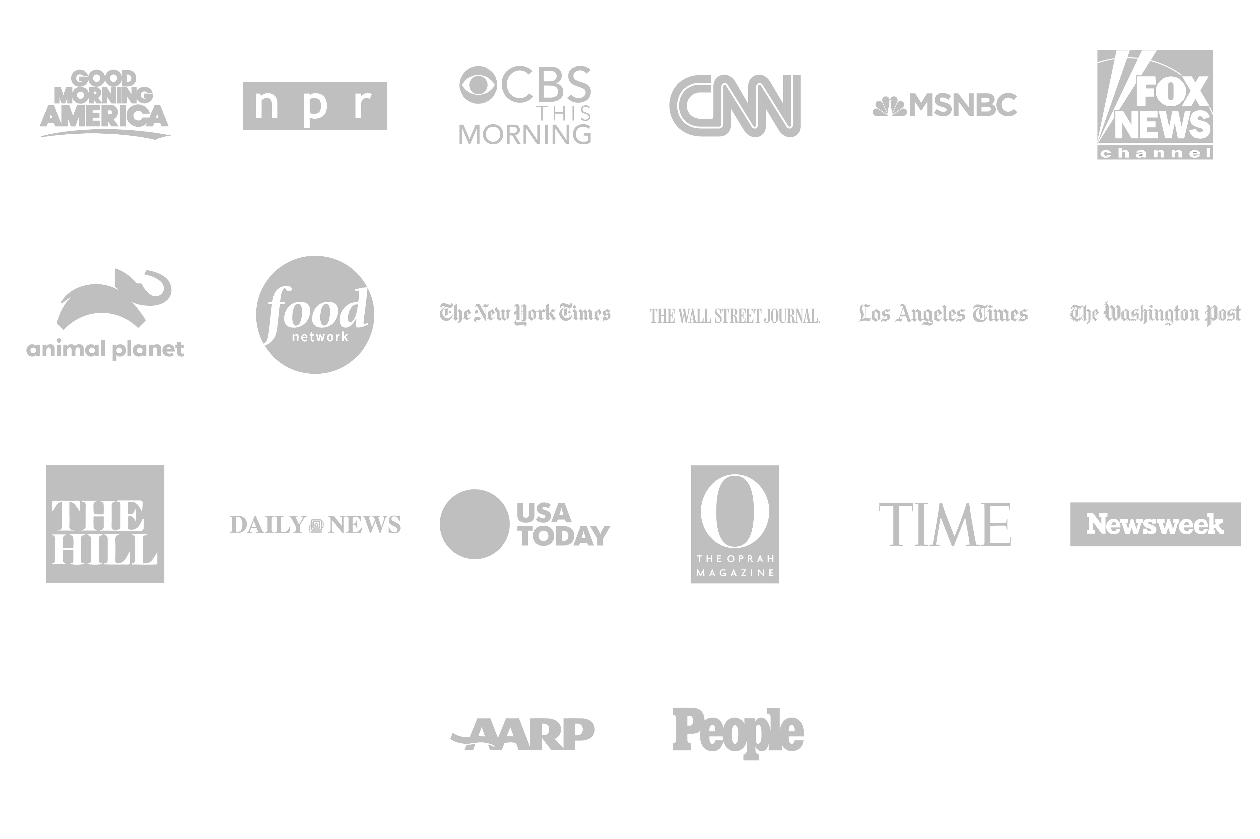 Media logos for featured press highlights