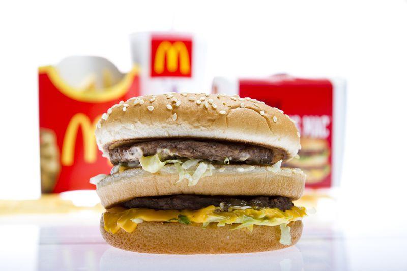 NY Daily News Header McDonalds Burger