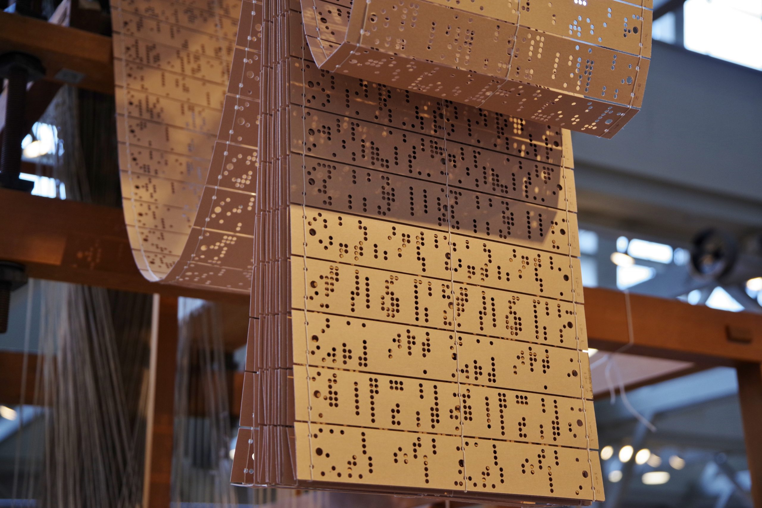 Punch cards of jacquard loom