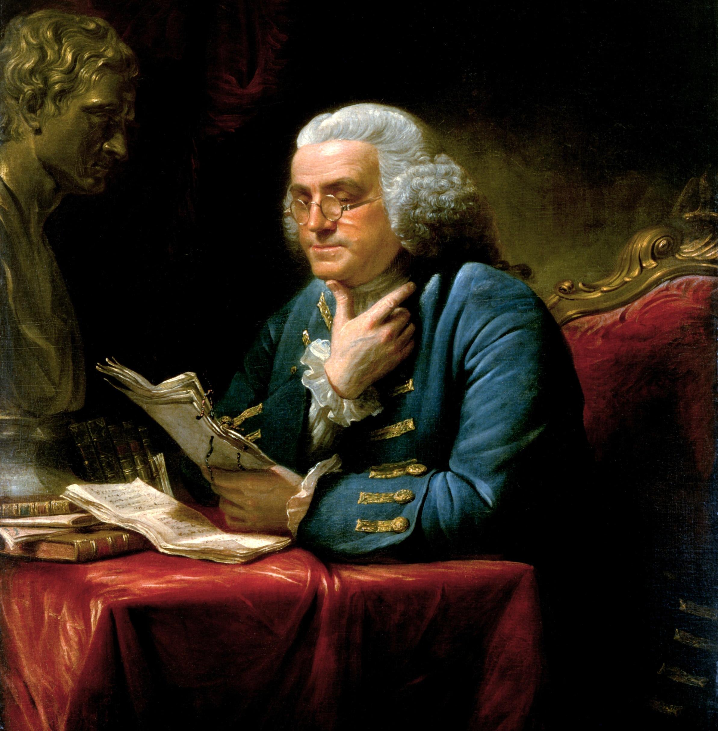 Benjamin Franklin 1767.