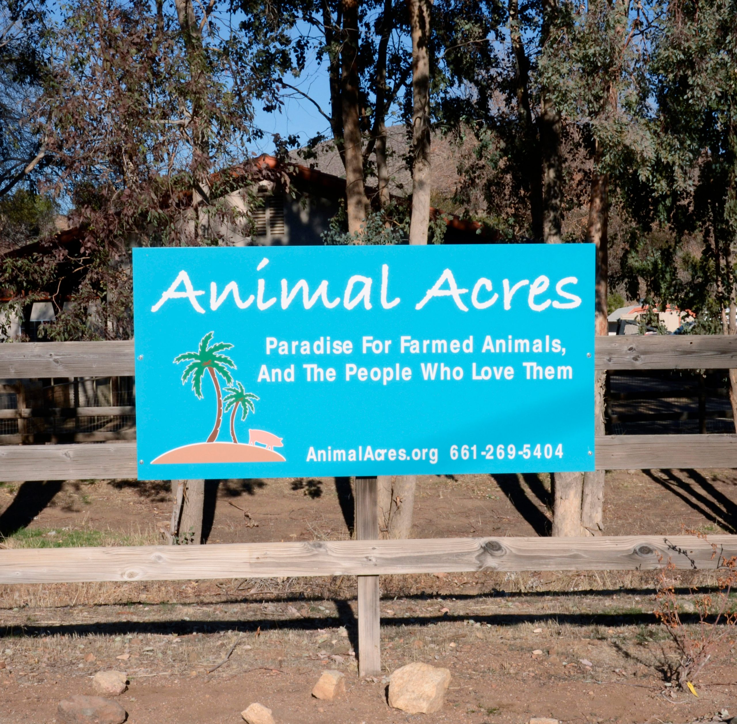 Animal Acres sign.